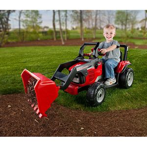 Peg Perego Case Ih Magnum Tractor And Trailer 12 Volt Battery Powered Ride On Walmart Com Kids Ride On Toys Case Ih Ride On Toys