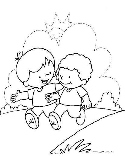 50 Desenhos Do Dia Do Amigo Para Colorir Pintar Imprimir Ou