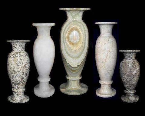 Amazon Coral Stone Flower Vase Tall Marble Vase Large 12