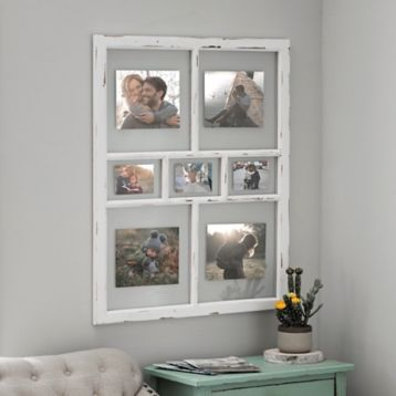 Distressed White Window Pane Collage Frame White Windows Collage Frames Window Design