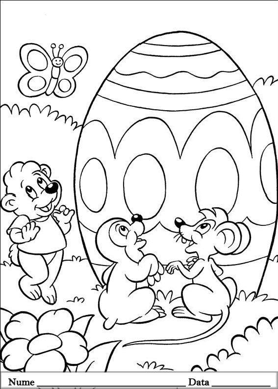 Desene De Colorat Primavara Pasti Oul De Paste Easter