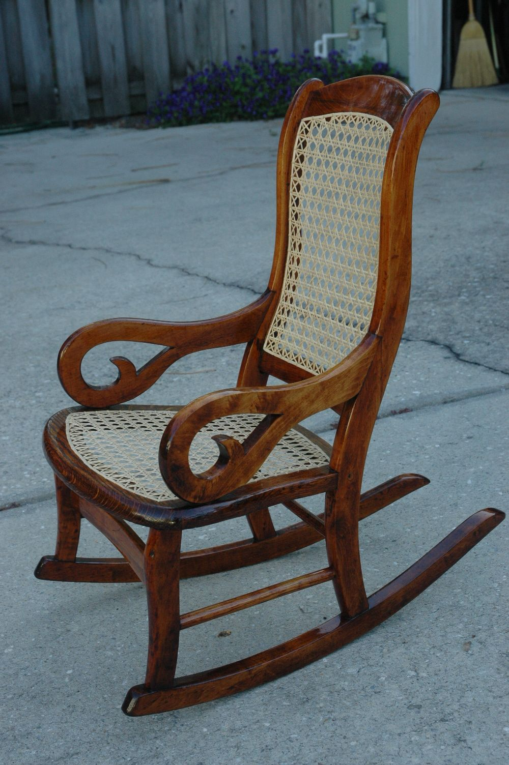 lincoln rocker how to cane a chair bottom and back. i would call