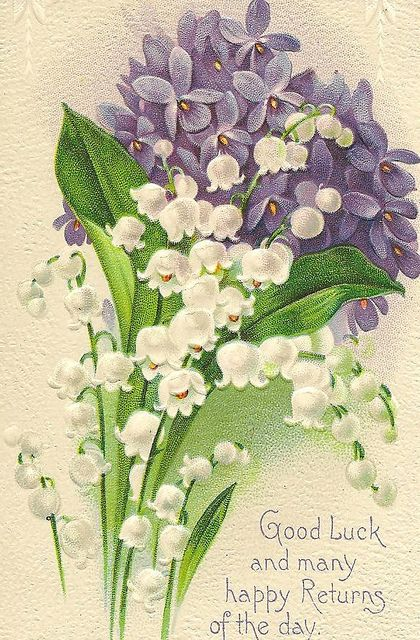 Lily Of The Valley And Violets