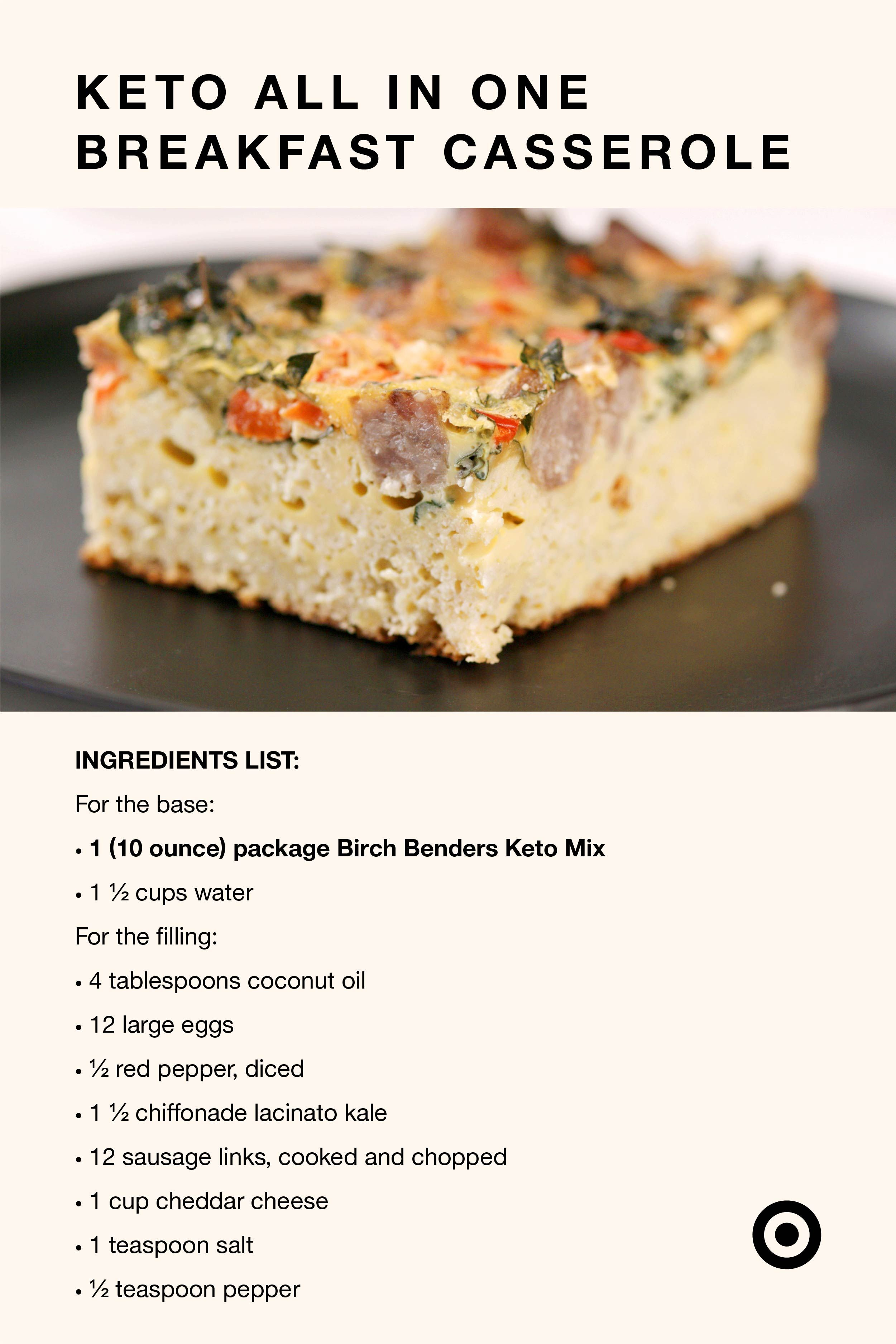 Get what you need to make this keto breakfast casserole at