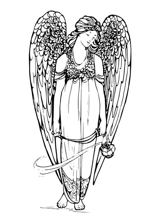 Coloring page angel - coloring picture angel. Free coloring sheets ...