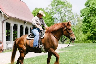 Horseback riding at the Biltmore Estate with the family  A