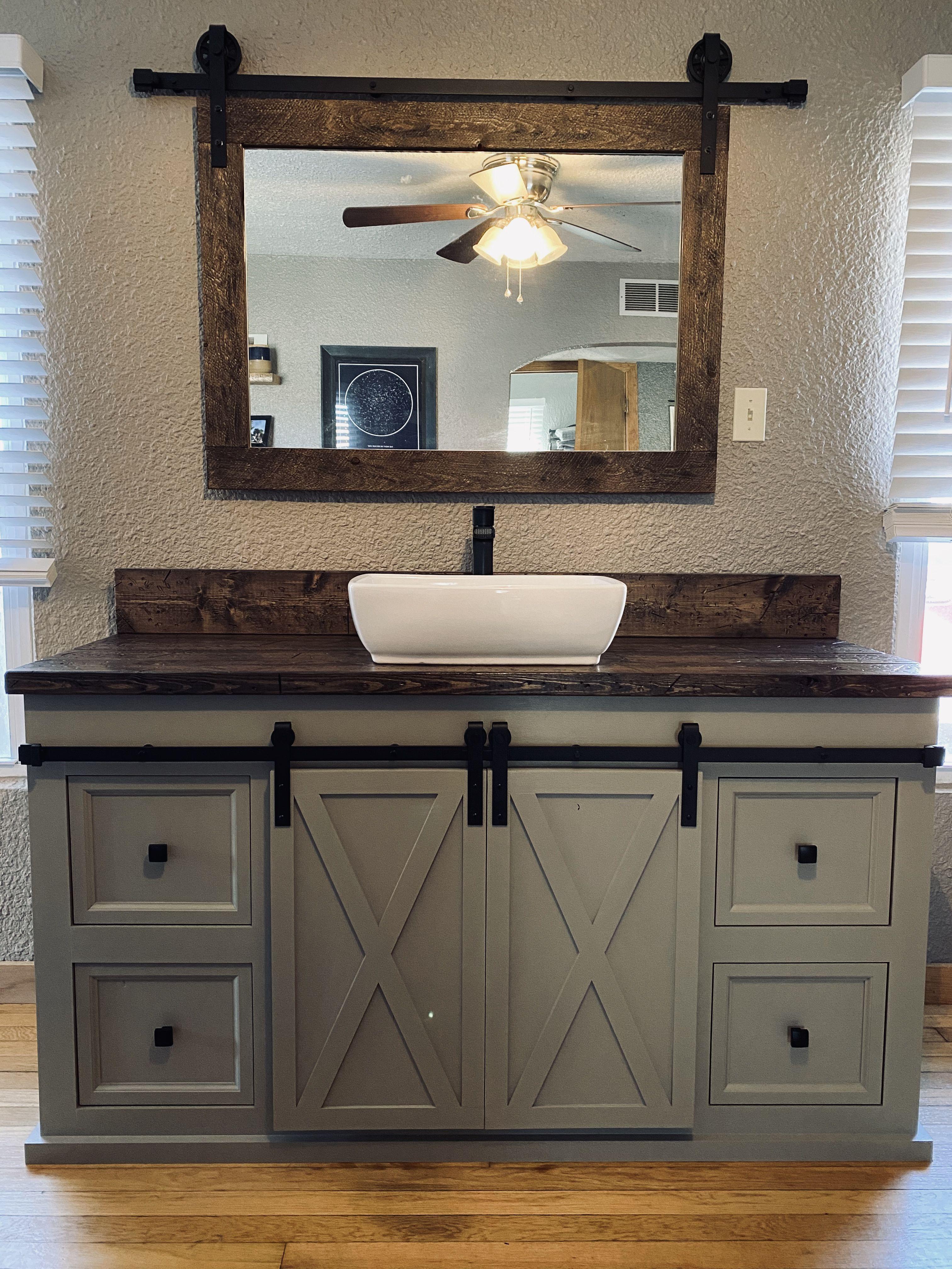 Pin By Knox Restoration On Knox Restoration Bathroom Vanity Barn Door Furniture Giveaway [ 4032 x 3024 Pixel ]