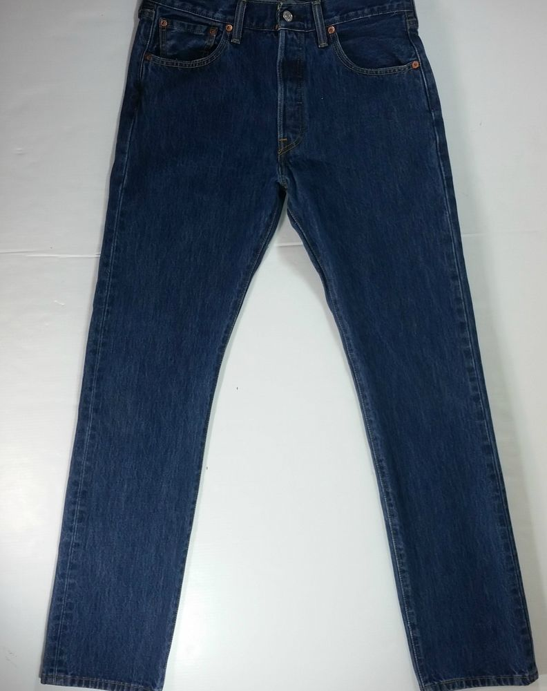 b2627c0e Levis Mens Jeans 501 Red Tab Button Fly Straight Leg Size 30 X 32 Actual 28  X 30 #Levis #ClassicStraightLeg