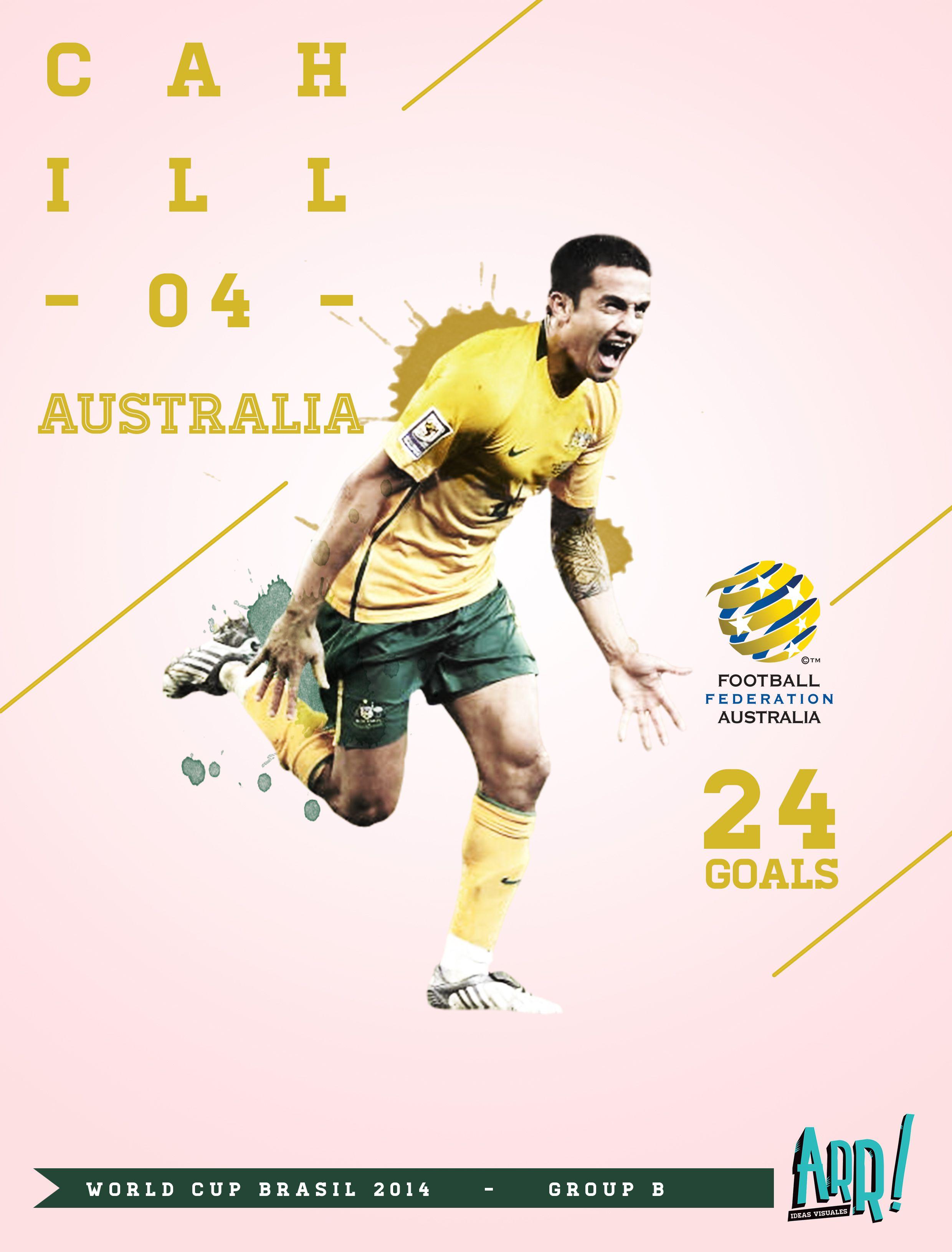 World Cup Brasil 2014 - Cahill, Australia by Nesta. http://nestarr.tumblr.com/