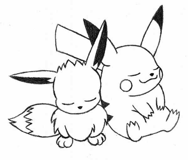 Pikachu And Eevee Coloring Pages By Amy Pikachu Coloring Page Super Coloring Pages Pokemon Coloring Pages