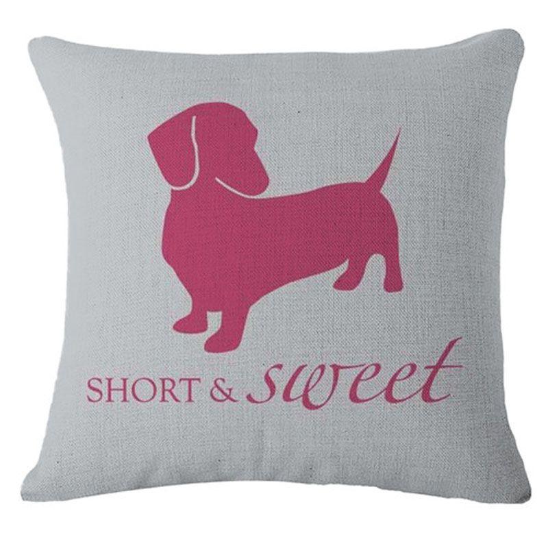 Short is Sweet Dachshund Weiner Doxie Sausage Dog Cushion