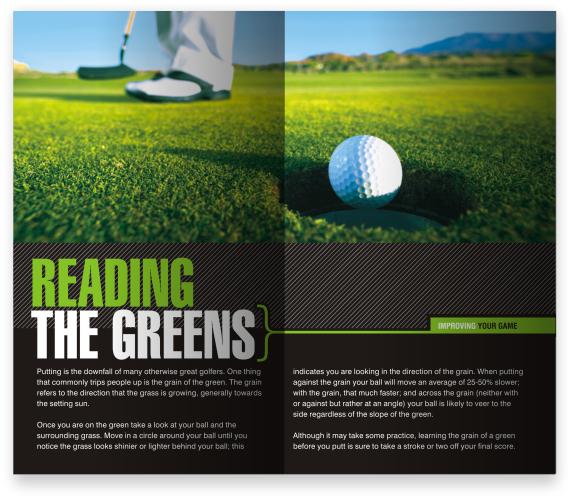 Course Guides Golf Magazine Golf Courses Magazine Layout