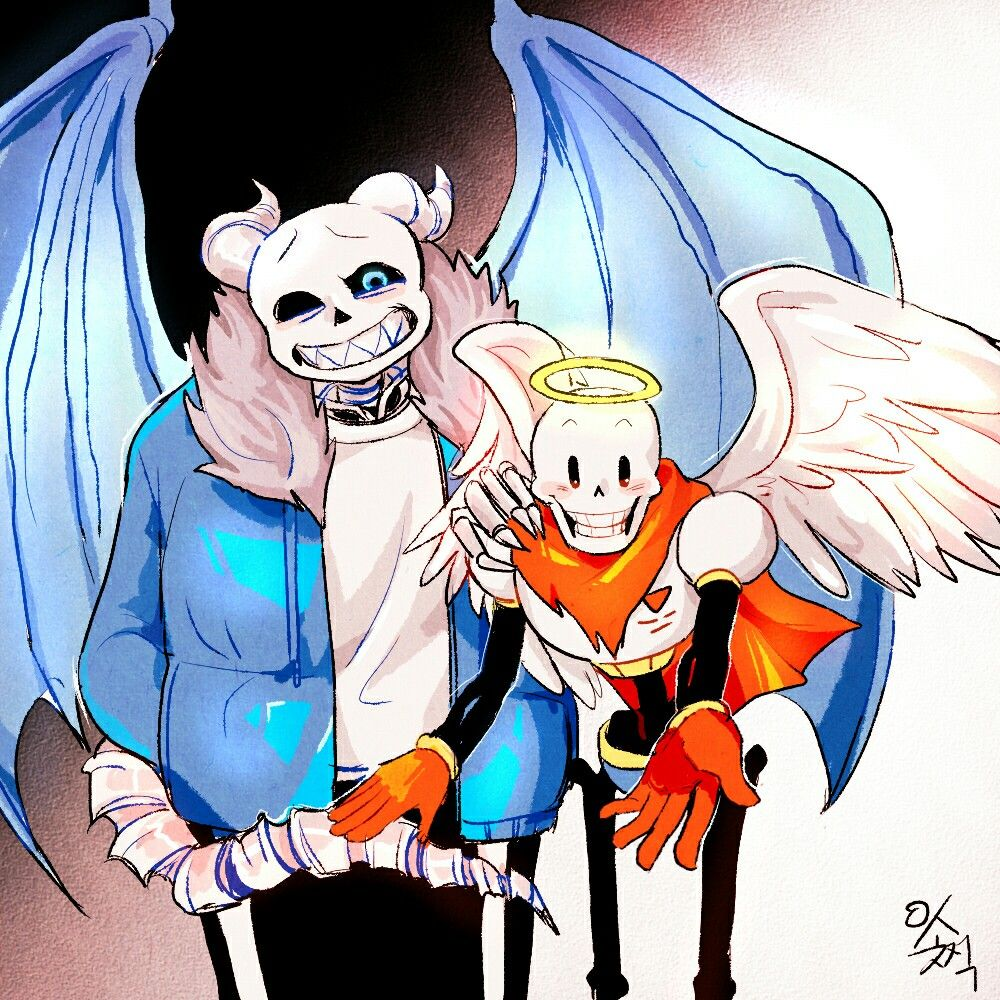 Sans And Papyrus :3 Demon And Angel