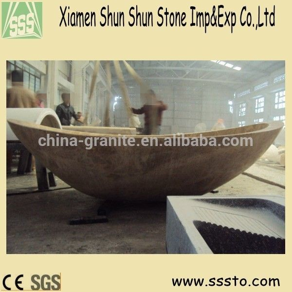 Vessel shape cheap price natural stone bathtub for sale View used