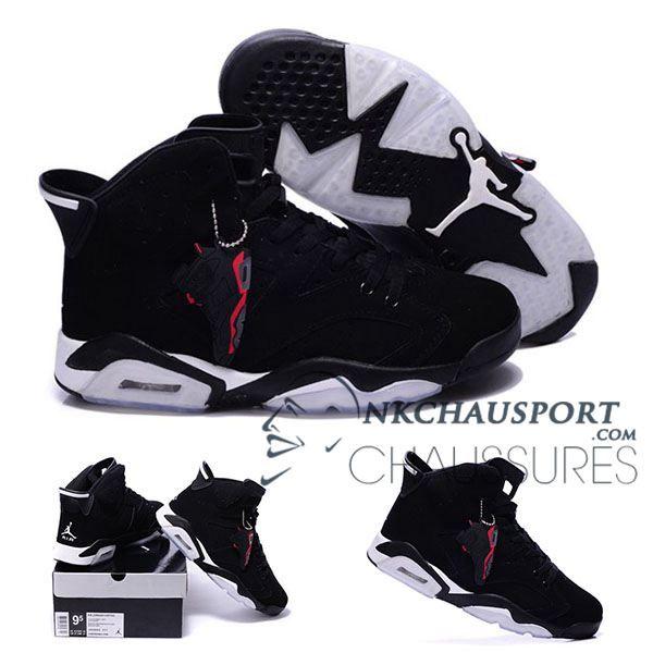 Nike Air Jordan 6   Classique Chaussure De Basket Homme Noir-8