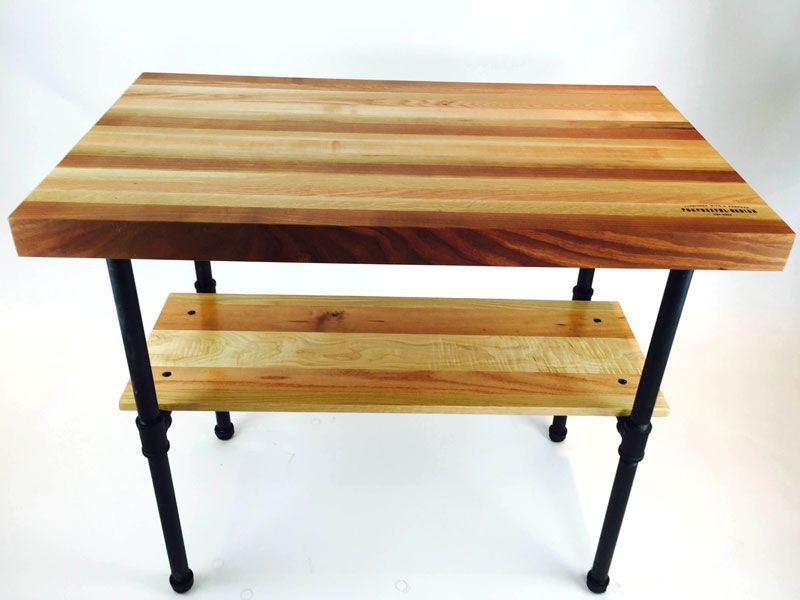 Amazing Beautiful Handcrafted Butcher Block Work Table That Brings Warmth And Style  To A Kitchen. Provides