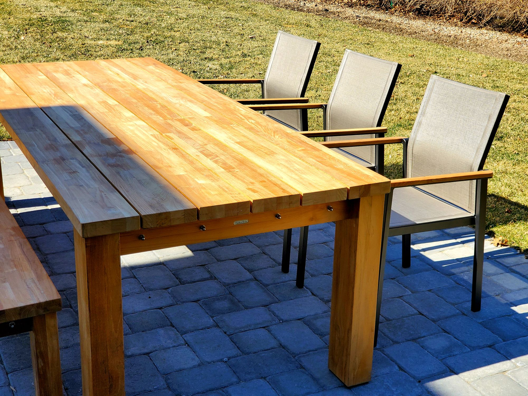 Titan Table With Aura Chairs In 2020 Teak Table Teak Furniture Outdoor Furniture