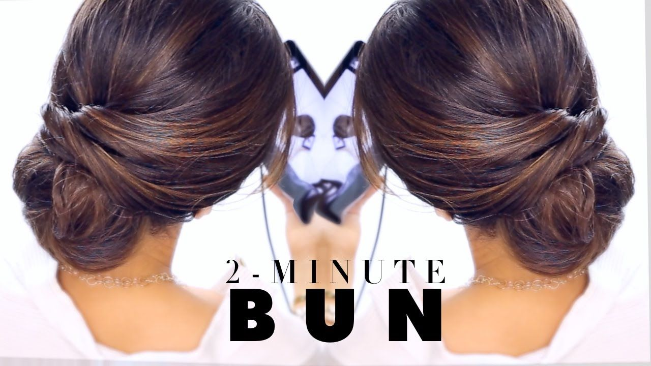 Minute elegant bun hairstyle easy updo hairstyles hair