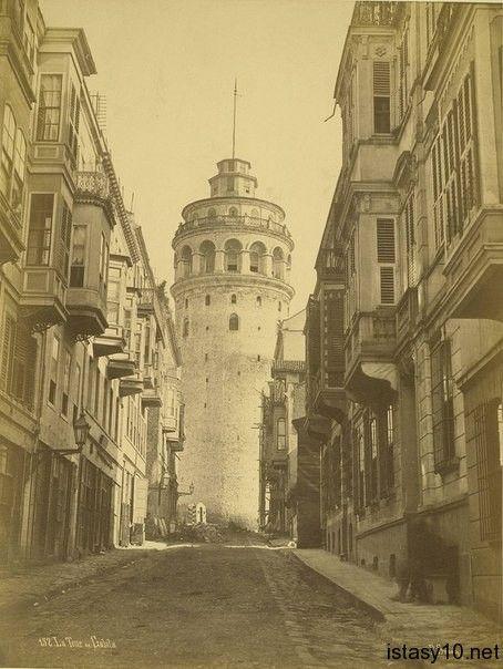 1900lerde galata kulesi istanbul fotograf kule