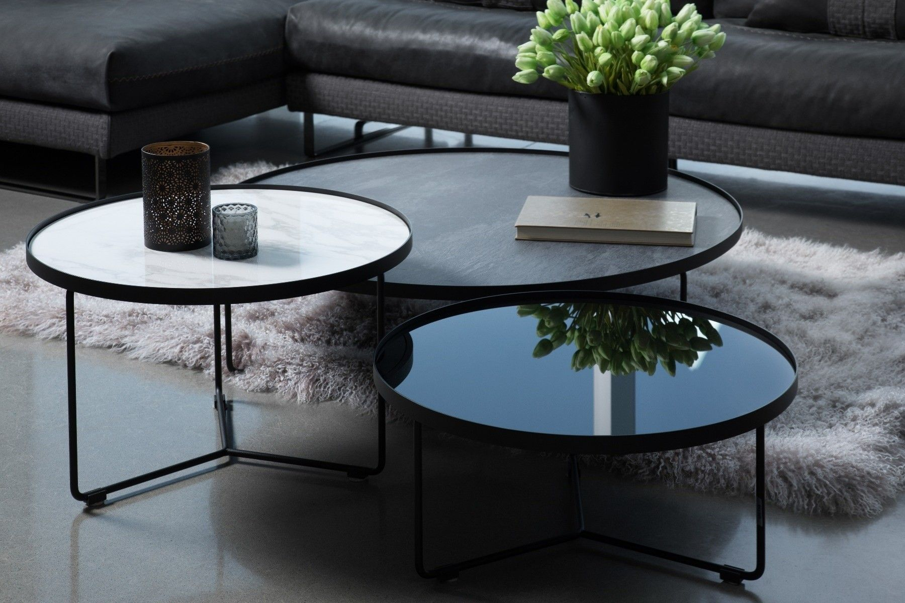 Billy Table Basse Circulaire Maison Corbeil In 2020 Round Coffee Table Nesting Coffee Tables Coffee Table Design