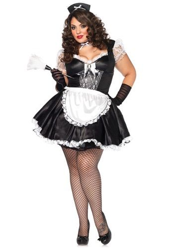 Plus Size Sexy Maid Outfit that Octaiva dressed for Jeffery to ...