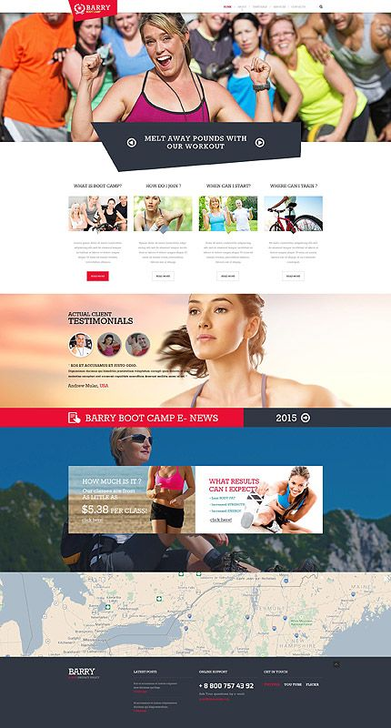Summer Boot Camp Website Template Themes Business Responsive