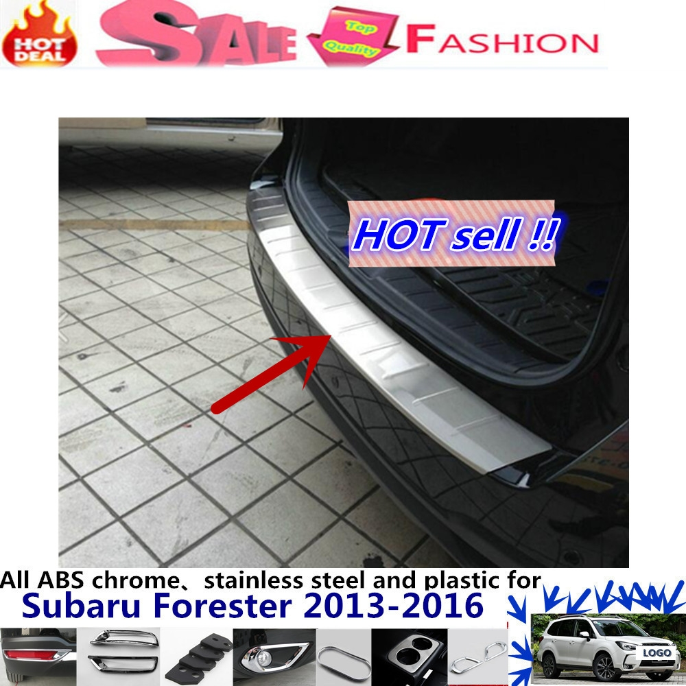 73.63$  Watch here - http://aligqs.worldwells.pw/go.php?t=32579963363 - For Su6aru Forester 2013-2016 External Rear Bumper Protect trim car body styling cover detector Stainless Steel plate pedal 1pcs 73.63$