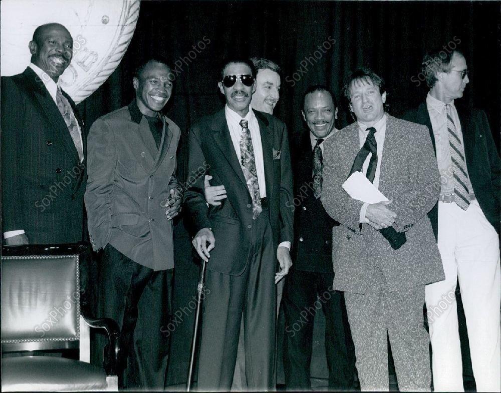 1991 Richard Pryor, Quincy Jones, Sugar Ray & Robin Williams at New York Hilton