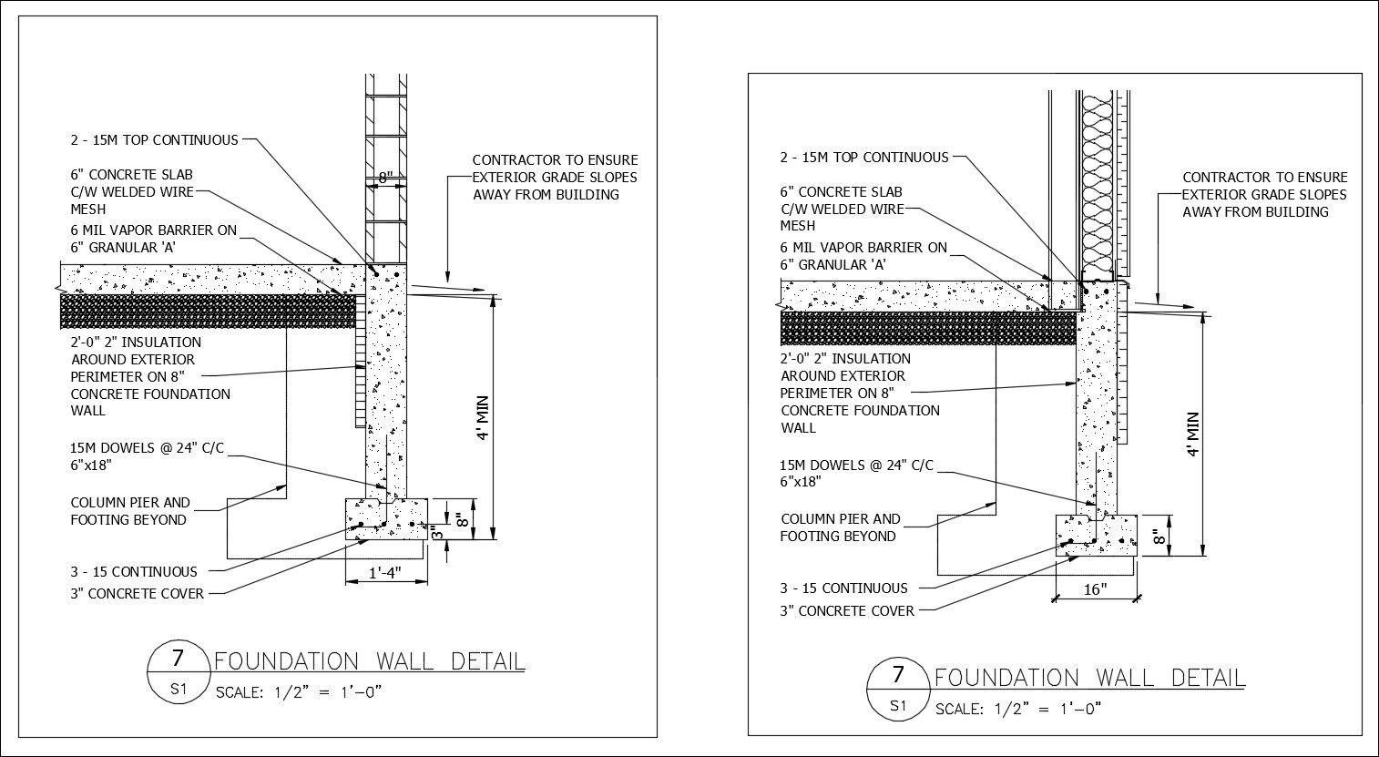 Free CAD Details-Foundation Wall Detail – CAD Design | Free CAD ...