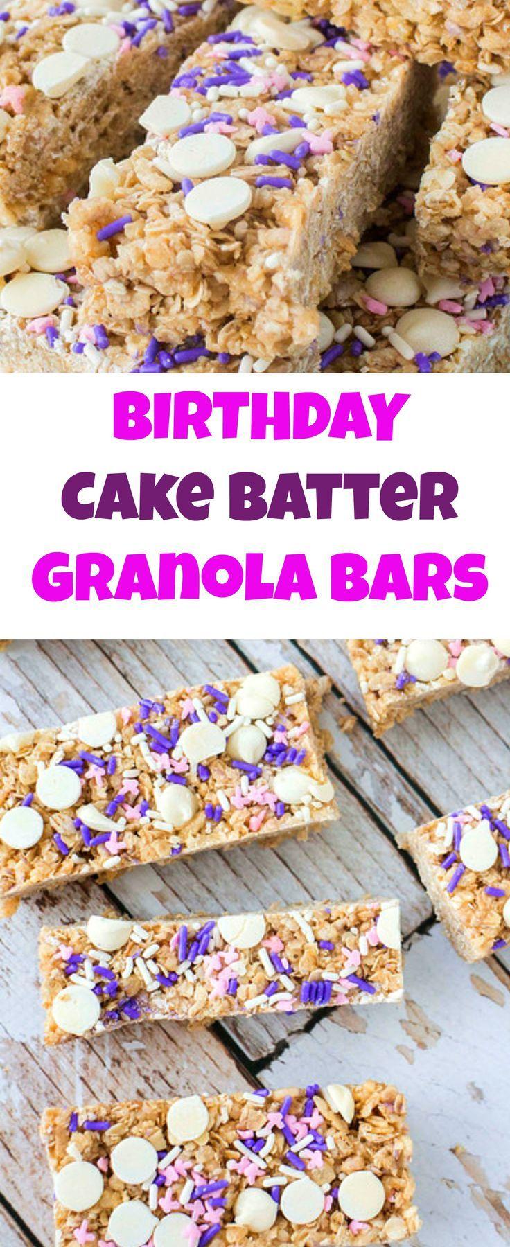 birthday cake granola recipe