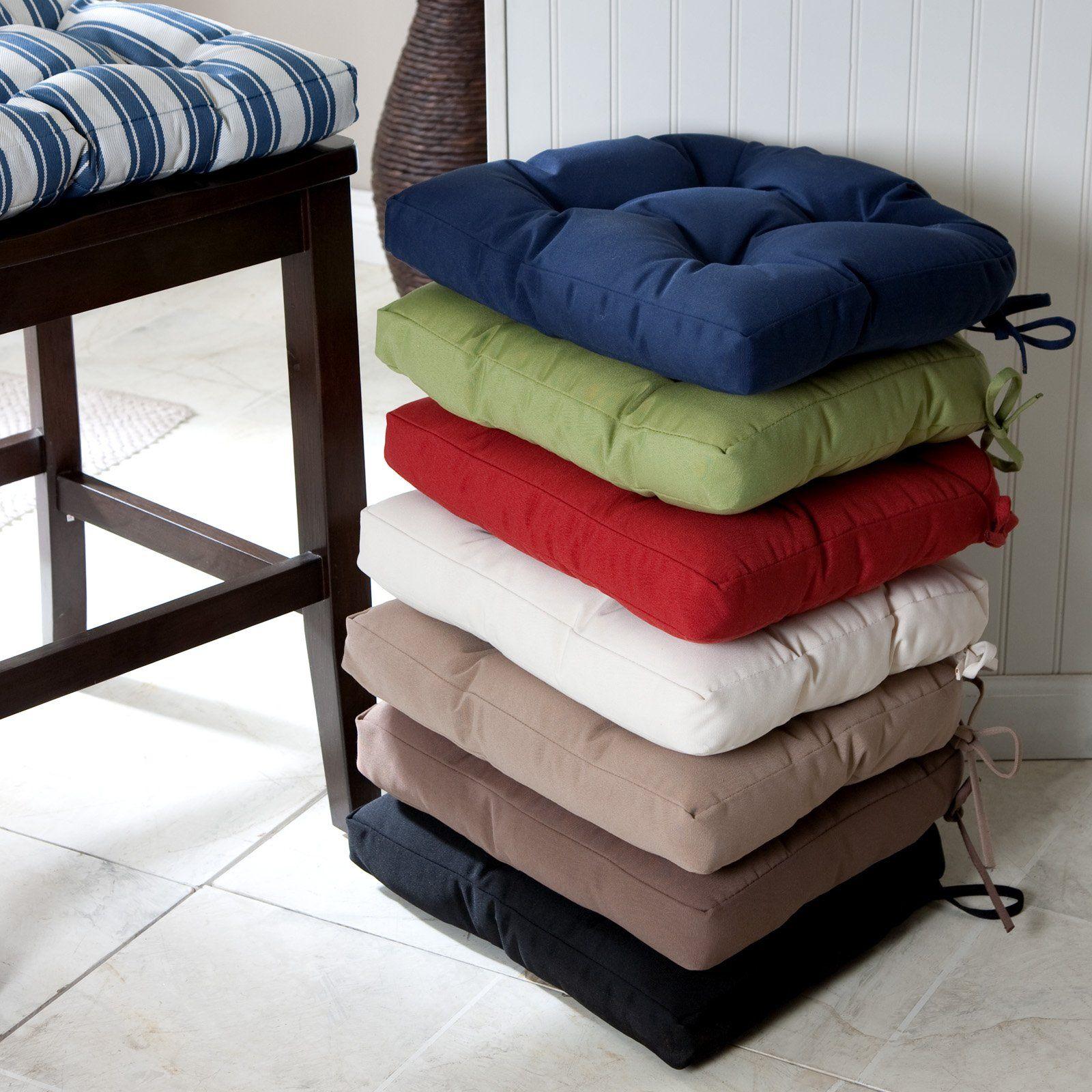 Deauville 8 x 8 in. Tufted Kitchen Chair Cushion  Kitchen chair
