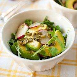 Looking for a refreshingly delicious spring salad? This Watercress Avocado Pumpkinseed Salad is just what you need.