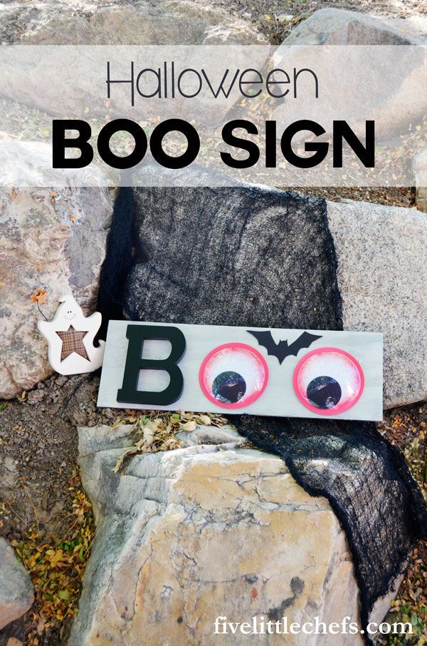 Halloween Decor BOO Sign DIY Halloween, Decoration and Craft - cheap easy diy halloween decorations