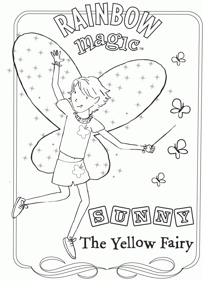 magical fairies coloring pages - photo#17