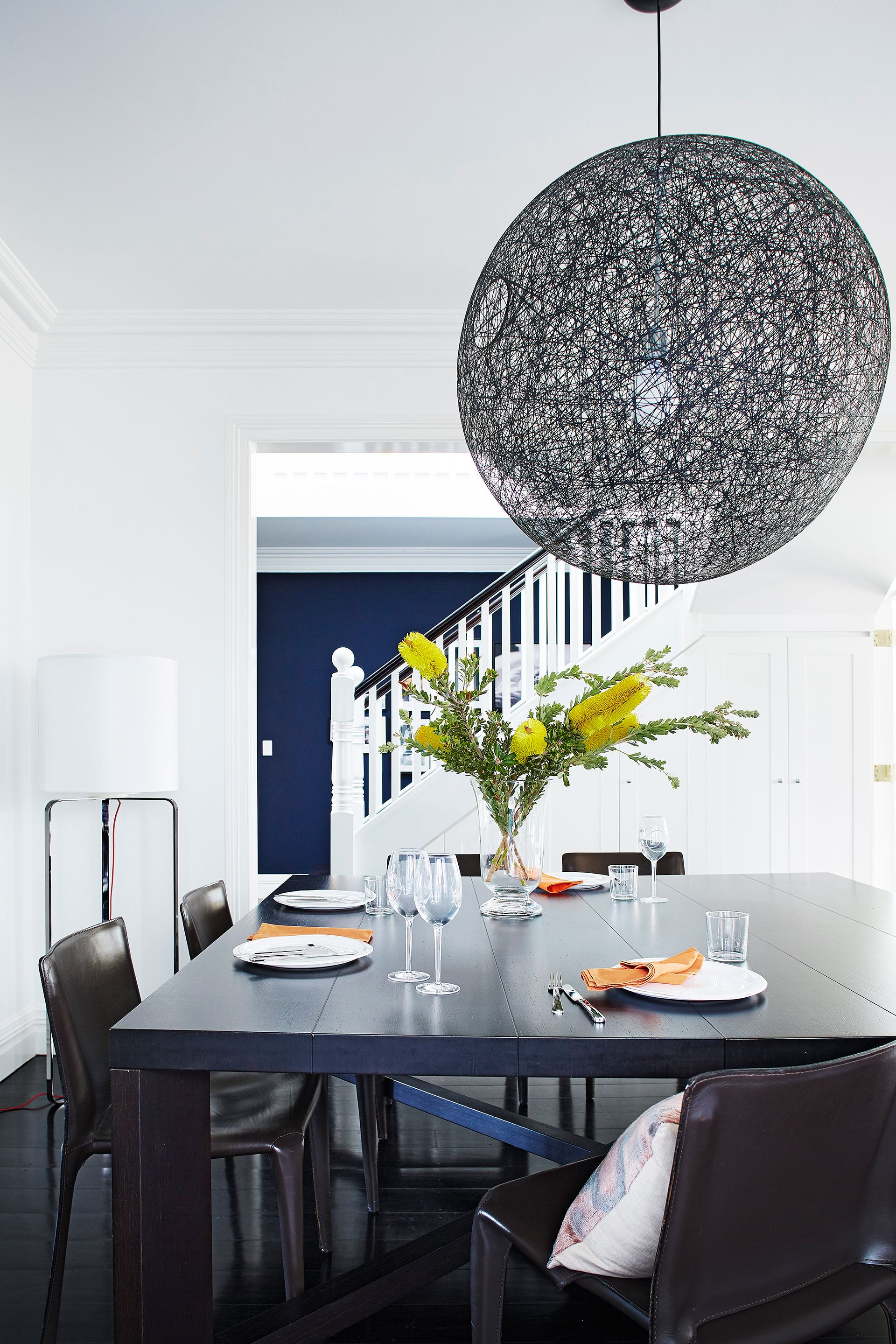 Dining Room From The Hamptons Style Sydney Home Of Interior Designer Anna Maria Stillone