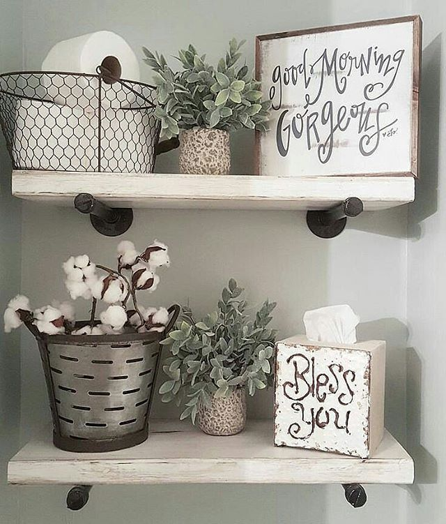 44 Awesome Diy Bathroom Shelves Ideas That You Need Right Now Farmhouse Bathroom Decor Decor Easy Home Decor