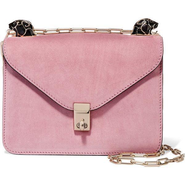 6c25e38b7cb Valentino Valentino - Panther Suede Shoulder Bag - Pink (£1