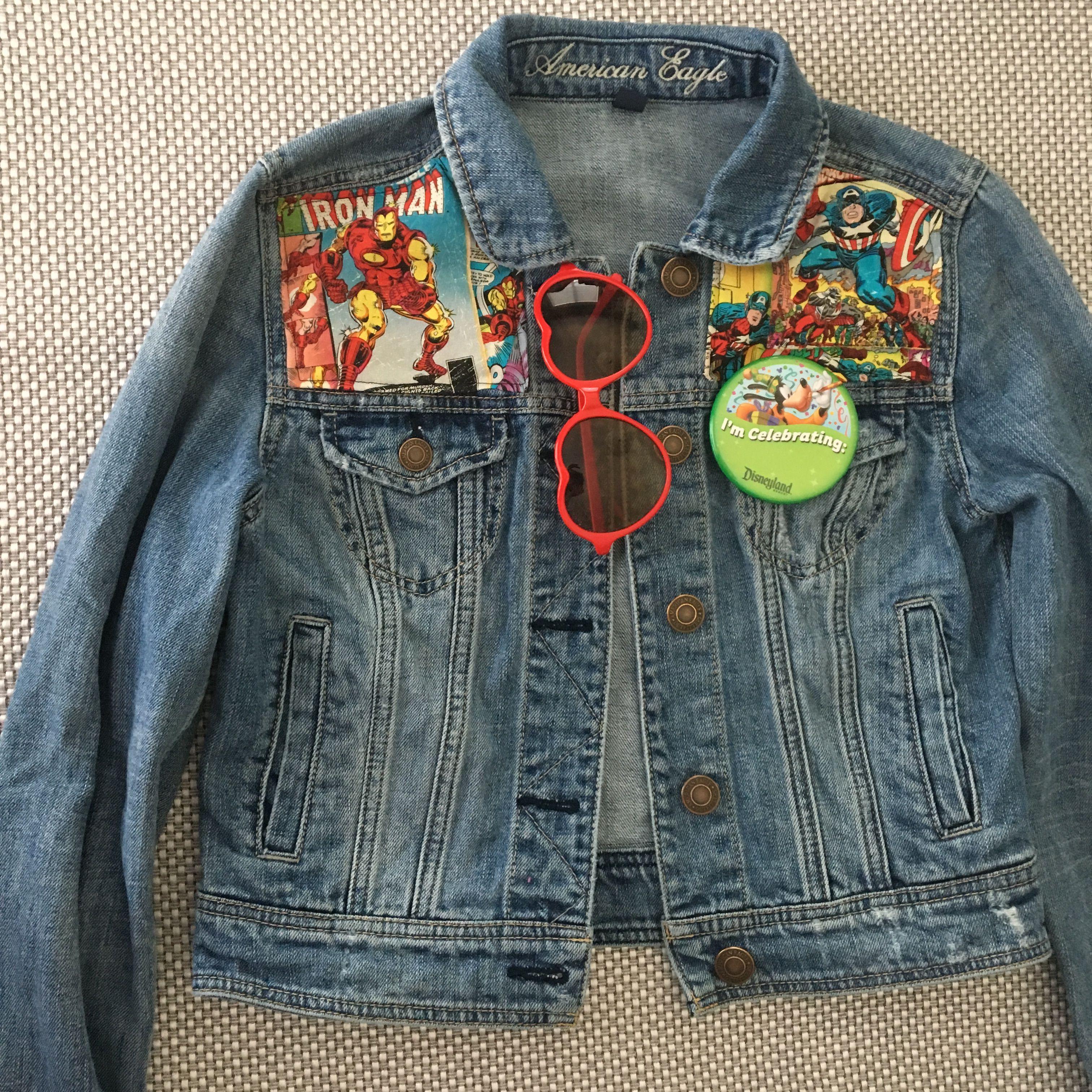 Avengers Comic Jean Jacket Outdoor Wear Jean Jacket Fashion [ 3024 x 3024 Pixel ]