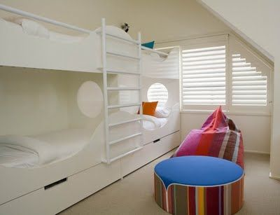 Beautiful white bunks for 4