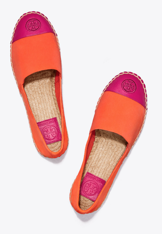 9599feb50883 Tory Burch Color-Block Suede Espadrille