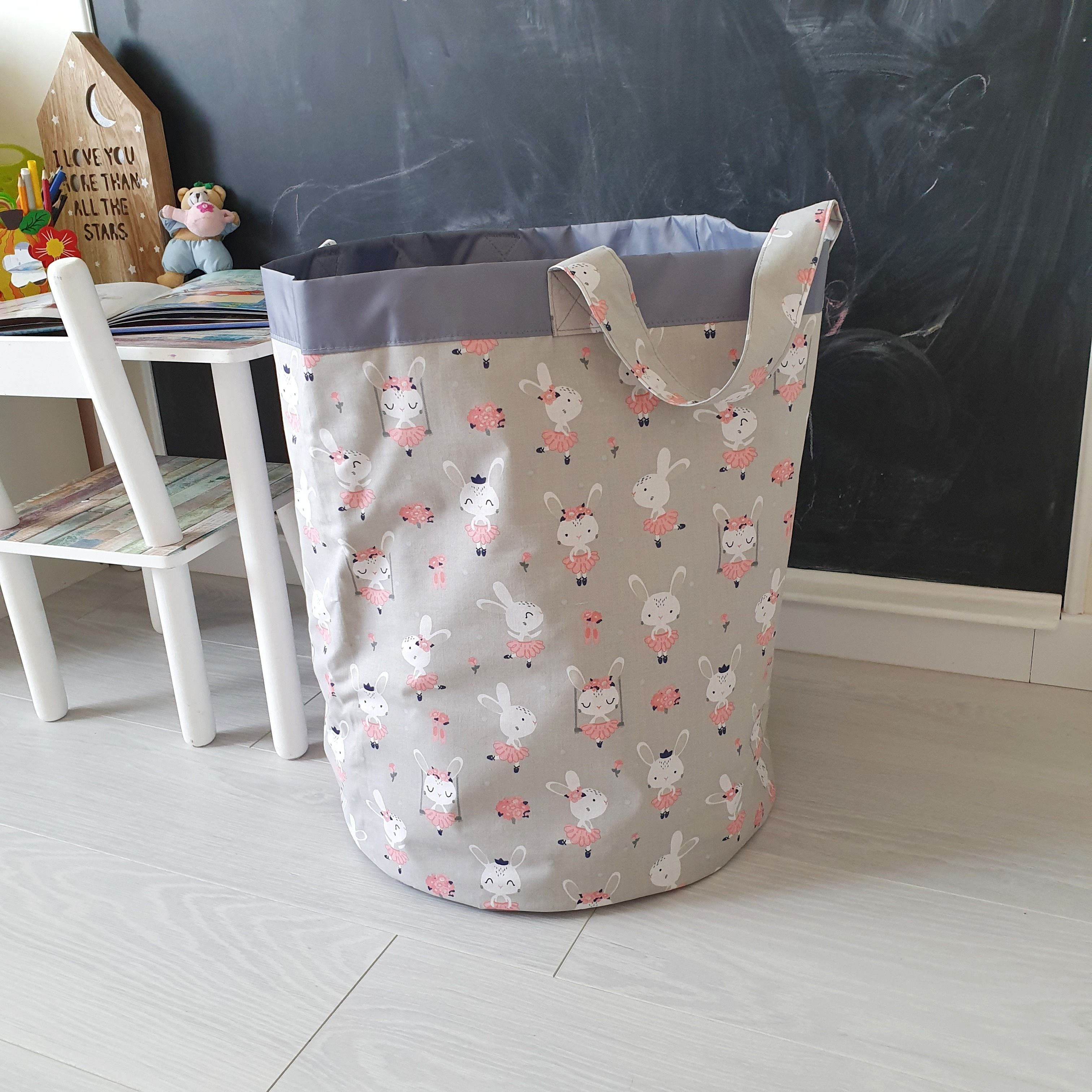 Fabric Basket Toy Box Basket For Toys Toy Storage Fabric Storage Basket Laundry Basket Storage Bin Laundry Bag Gift For Baby Rabbits Print Fabric Storage Baskets Storage Baskets Toy Storage Bags