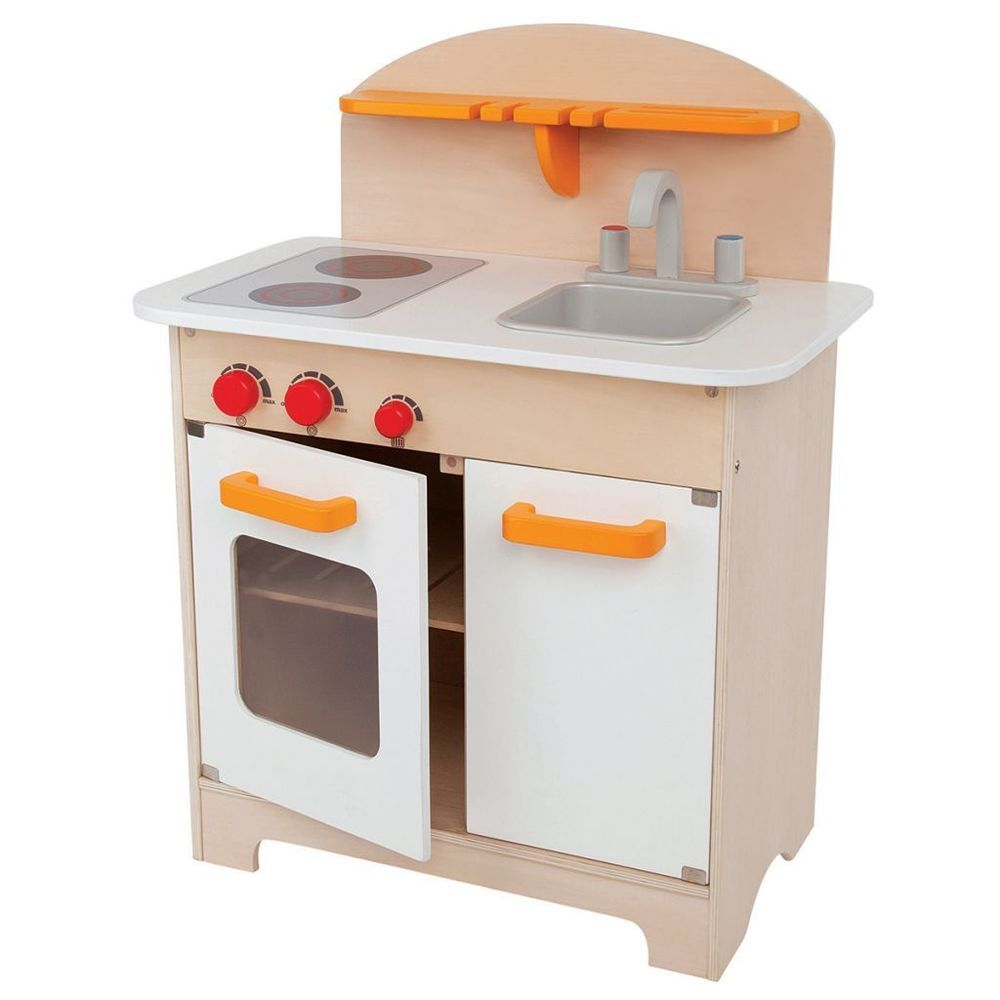 Kids Kitchen Set Solid White Colored Finish Christmas Gift For Girls ...