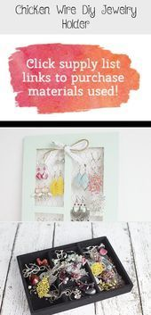 Photo of Chicken Wire Diy Jewelry Holder – Jewelry Looking for a stylish way …