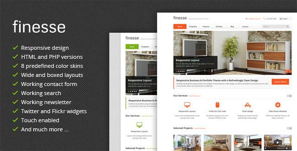 Finesse responsive business html template themes pinterest finesse responsive business html template cheaphphosting Image collections