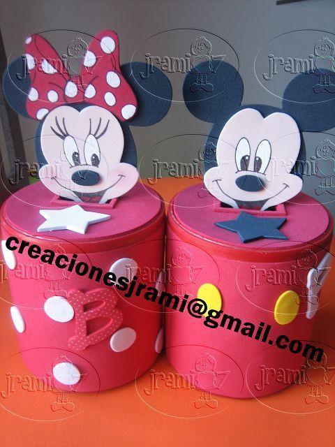 alcancia de tarros de leche decoradas para fiesta infantil Buscar