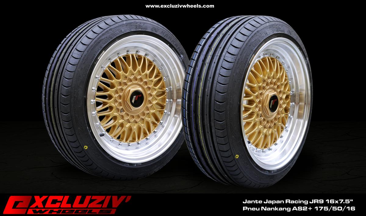 jantes japan racing jr9 16x7 5 pneus nankang as2 175 50 16 excluziv 39 wheels jantes. Black Bedroom Furniture Sets. Home Design Ideas