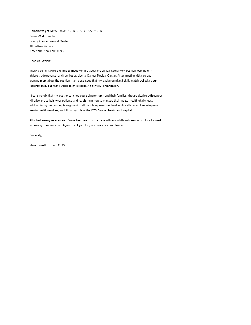 Thank You Letter After Interview Medical Field How To Write A