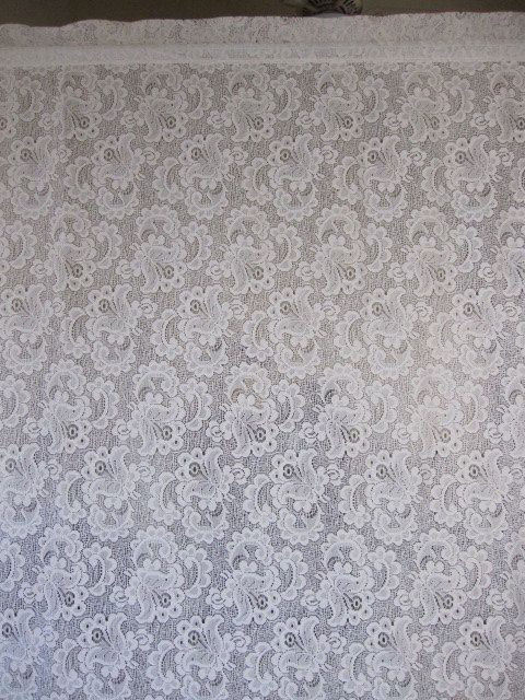 Lace Curtain, Off White Floral Lace Curtain Panel 56 x 80   Lace ...