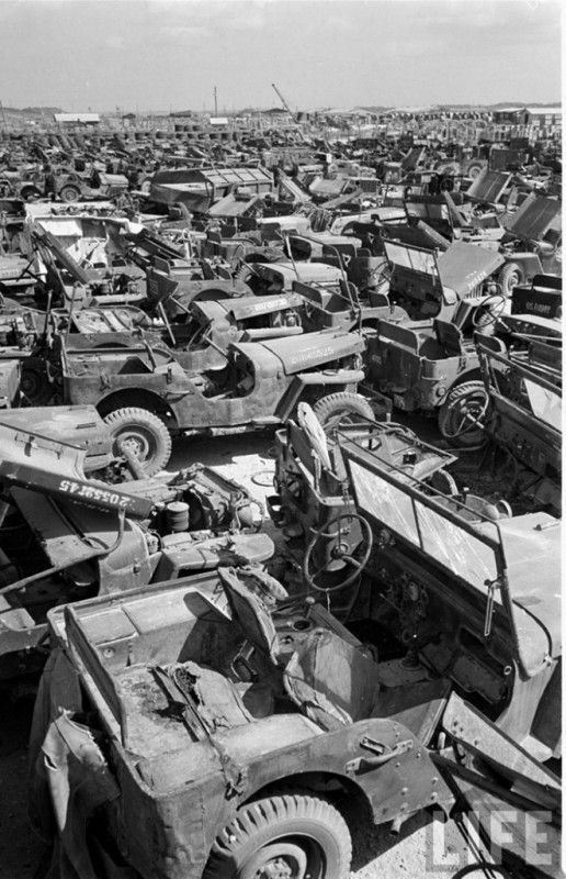 Jeep Willys Mb Ford Gpw Salvage Yard Okinawa 1949 A Vintage Jeep Cool Jeeps Old Jeep