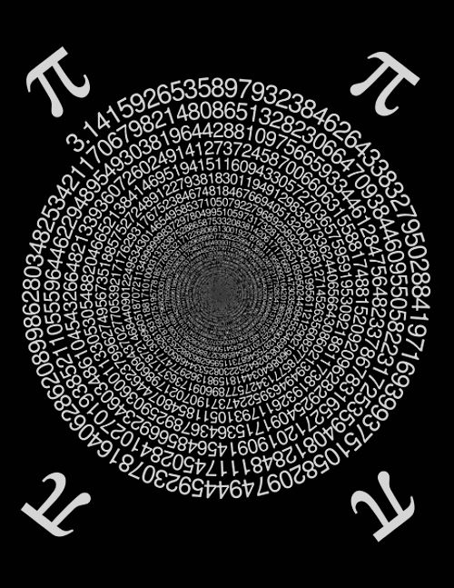 All the digits of Pi visualized in one image. | Números | Pinterest